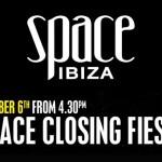 Sesiones Space Ibiza Closing Fiesta 2013