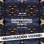 South Central cabeza de cartel de la Fiesta inauguración viernes Zoológico Club