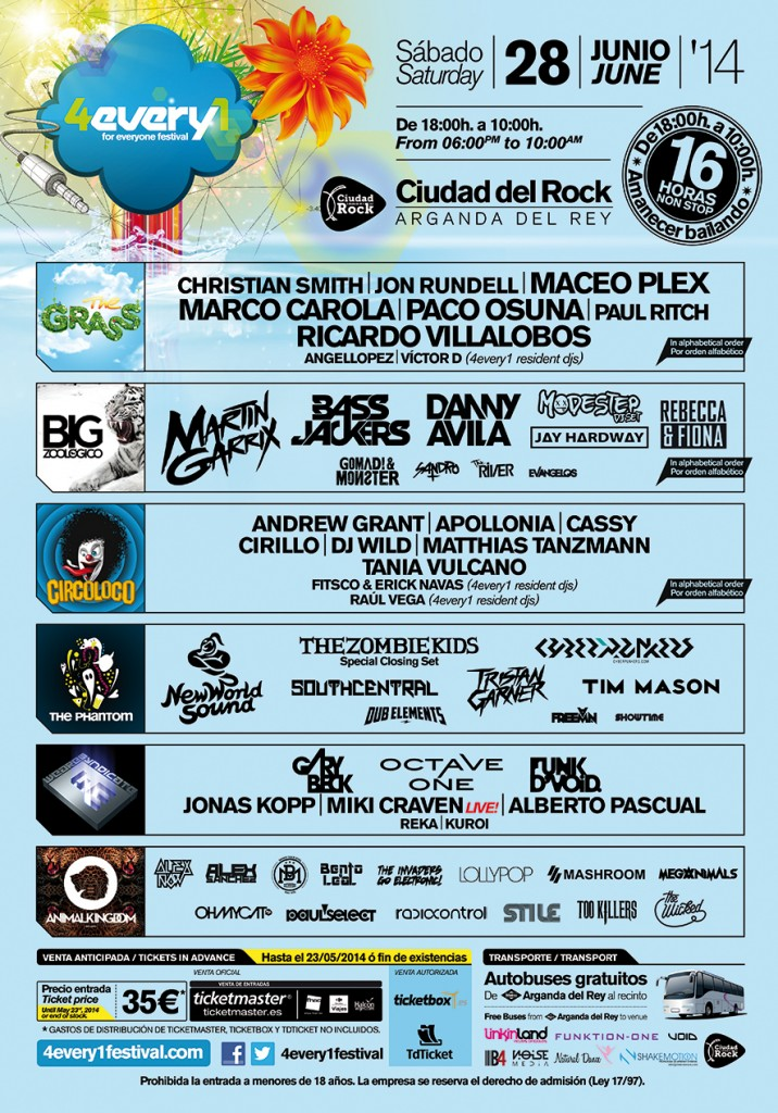 cartel completo 4every1 festival