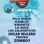 Sexto avance de cartel para Weekend Beach Festival 2015