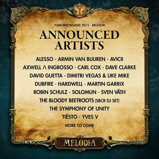 Tomorrowland 2015 phase 1 lineup_NRFmagazine