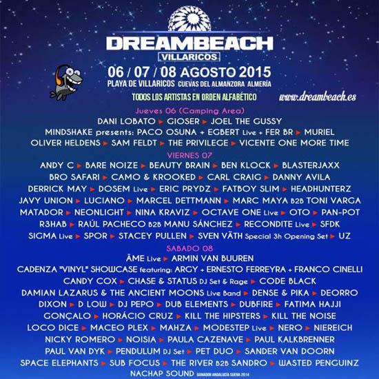 Dreambeach 2015 distribución por días_NRFmagazine
