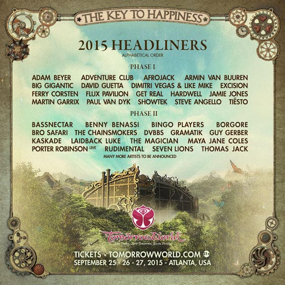 TomorrowWorld Phase II line-up 2015_NRFmagazine