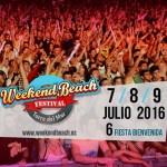 Weekend Beach Festival 2016 ya tiene fecha