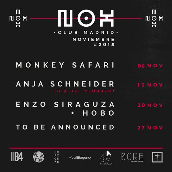 NOX Club Madrid programación noviembre_NRFmagazine