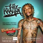 Weekend Beach Festival 2016 anuncia su 1ª confirmación: WIZ KHALIFA