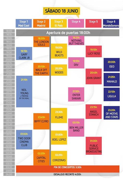 Horarios Mad Cool Festival sabado_NRFmagazine