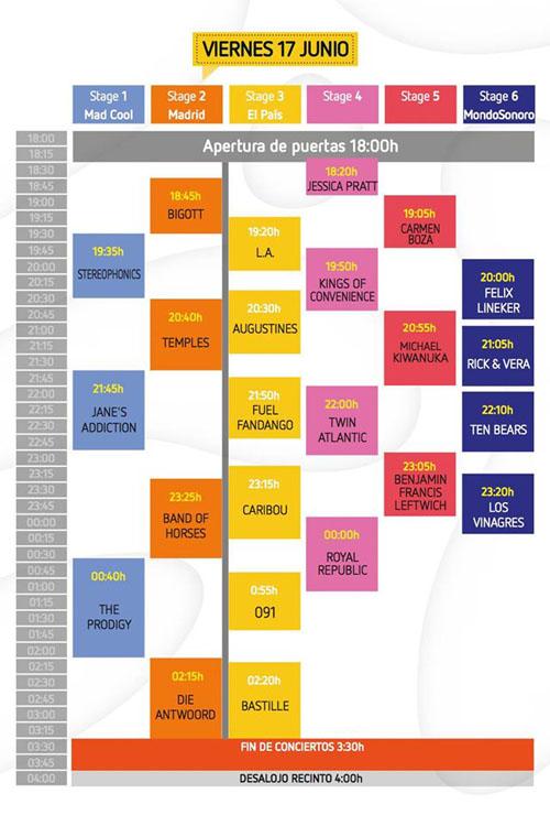 Horarios Mad Cool Festival viernes_NRFmagazine
