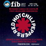 Red Hot Chili Peppers se convierten en el primer cabeza de cartel de FIB 2017