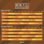 Horarios disponibles para DGTL Barcelona