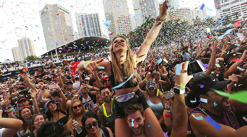 Ultra Music Festival in downtown Miami