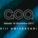 Primer avance de cartel para el XXIII Aniversario de GOA