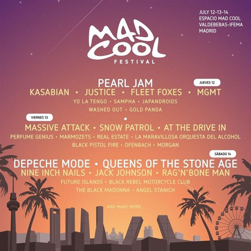 Mad Cool Festival 2018 distribución por días_NRFmagazine